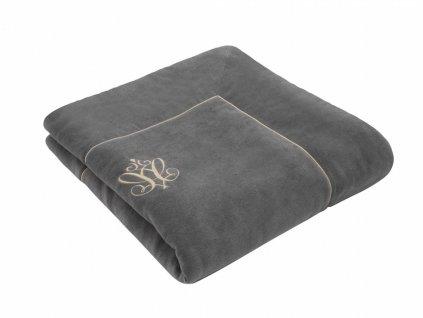 Caramella Anthracite Gloss dětská deka antracitová