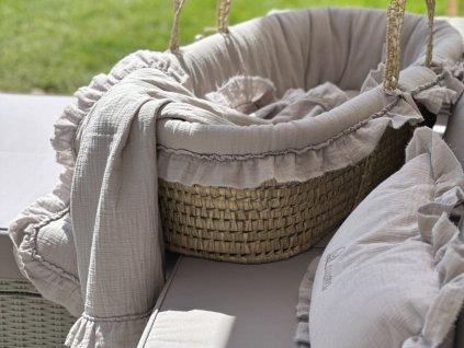 Caramella Manhattan dětská deka šedá