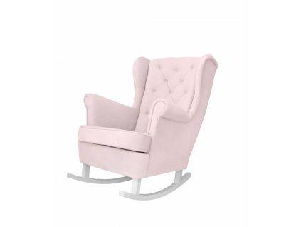 Caramella Baby Pink houpací křeslo na krmení růžové
