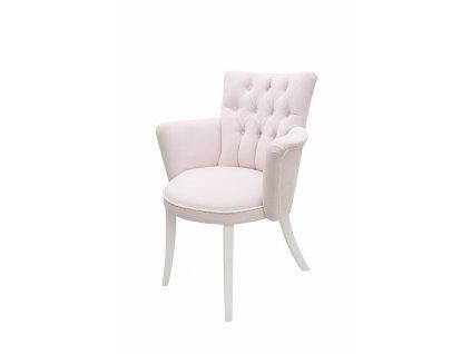 Caramella Baby Pink prošívaná židlička růžová