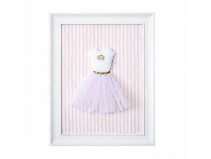 Caramella Golden Chic textilní dětský obraz tutu šaty růžové
