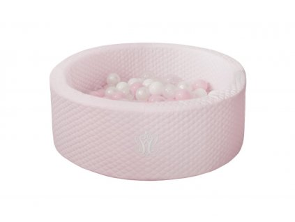 Caramella Baby Pink suchý bazén s kuličkami růžový