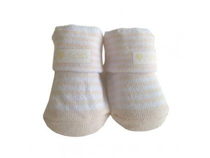15515 nanan bavlnene ponozky pre babatko ruzove pruhy