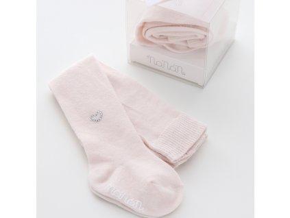 Nanán dětské vlněné punčošky růžové