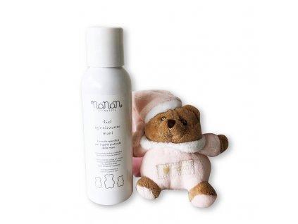 Nanán dezinfekční gel na ruce s růžovým medvídkem Puccio