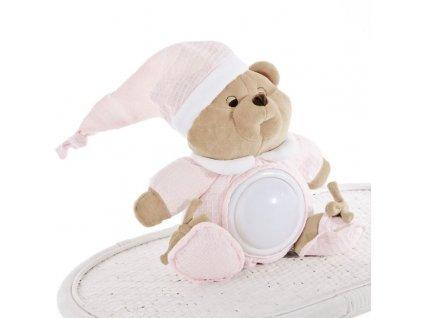 Nanán dětské noční světélko medvídek Puccio růžový
