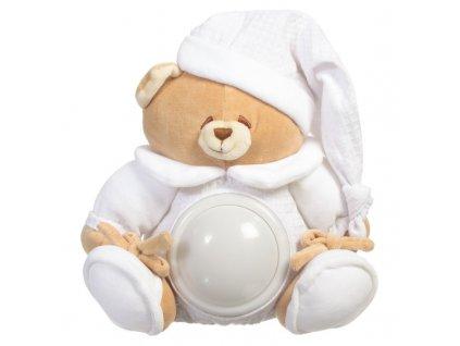 20060 nanan plysova hracka svietiaci medvedik tato 25cm biely