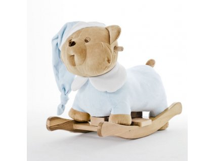 Nanán plyšový houpací medvídek Puccio modrý