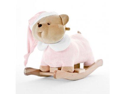 Nanán plyšový houpací medvídek Puccio růžový
