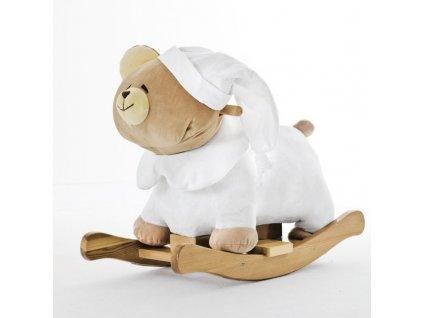 Nanán plyšový houpací medvídek Tato bílý