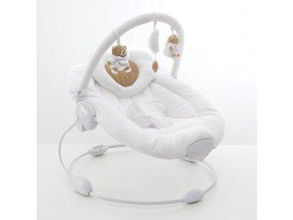 Nanán vibrační lehátko s melodií Tato bílé