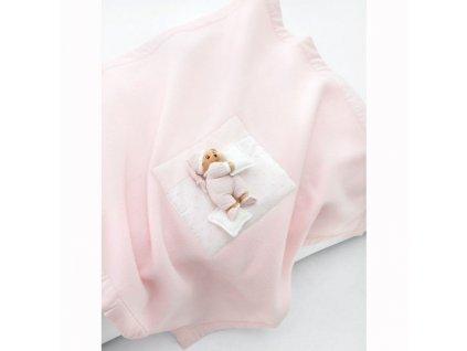 fleecova deka ružová