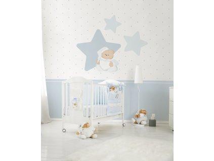 Nanán Puccio tapeta do dětského pokoje modrá