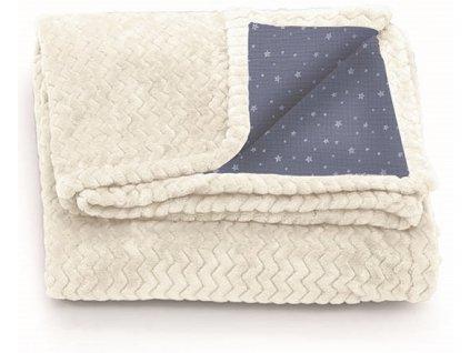 Italbaby Muslin zimní deka do kočárku 60x70cm modrá