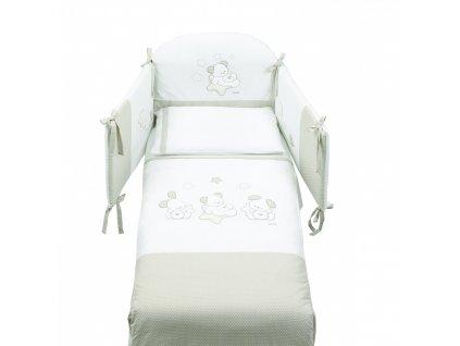 Italbaby Sweet Star mantinel s ložním prádlem šedá