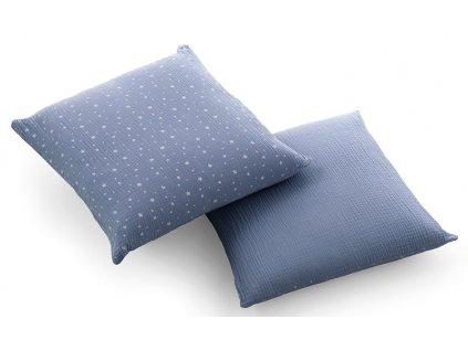 Italbaby dekorační polštář Muslin modrý