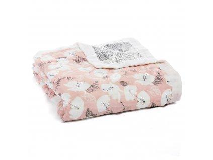 Aden & Anais bambusová deka pro děti Pretty Petals