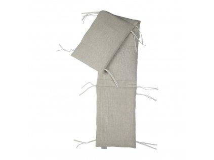 Quax mantinel do postýlky Natural linen