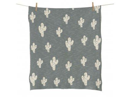 Quax pletená deka Kaktus 80x65cm