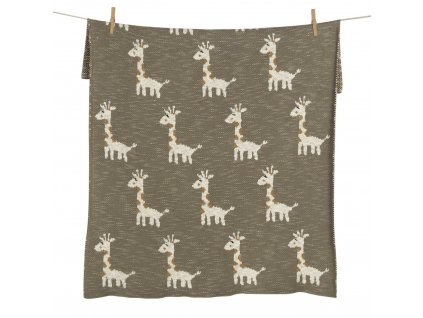Quax pletená deka Žirafa 80x65cm
