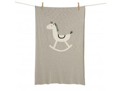 Quax pletená deka Houpací koník 100x160cm