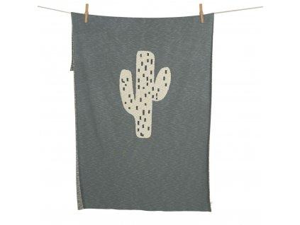Quax pletená deka Kaktus 100x160cm
