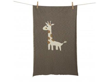 Quax pletená deka Žirafa 100x160cm