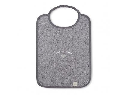 Nanán dětský obdélníkový bryndáček šedý