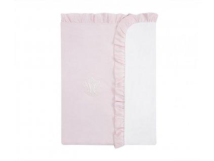 Caramella Baby Pink dětská deka do kočárku růžová
