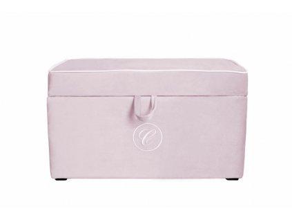 Caramella Baby Pink čalouněný úložný box na hračky