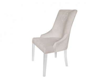 Caramella Hampton čalouněná židle se znakem béžová