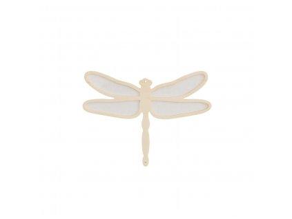 Caramella Ivory Mist malá dekorativní vážka
