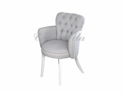 Caramella prošívaná židlička šedá