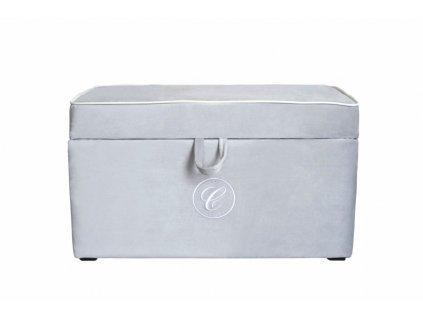 Caramella čalouněný úložný box na hračky šedý