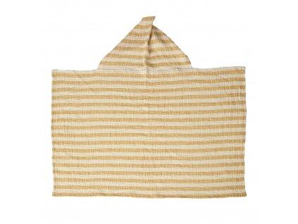 Quax mušelínová osuška s kapucí Stripes šafránová