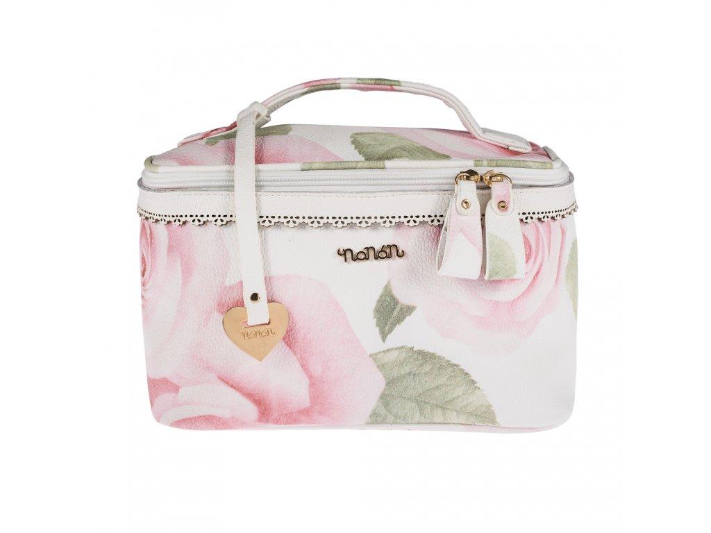 Nanán kozmetický kufrík s kvetinkami