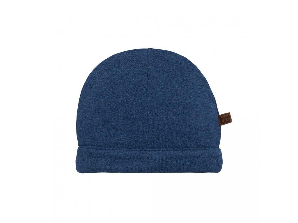 19478 baby s only melange bavlnena ciapka pre babatko tmavo modra