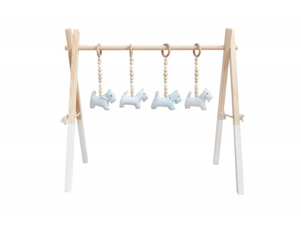 Caramella drevená hracia hrazda modrá
