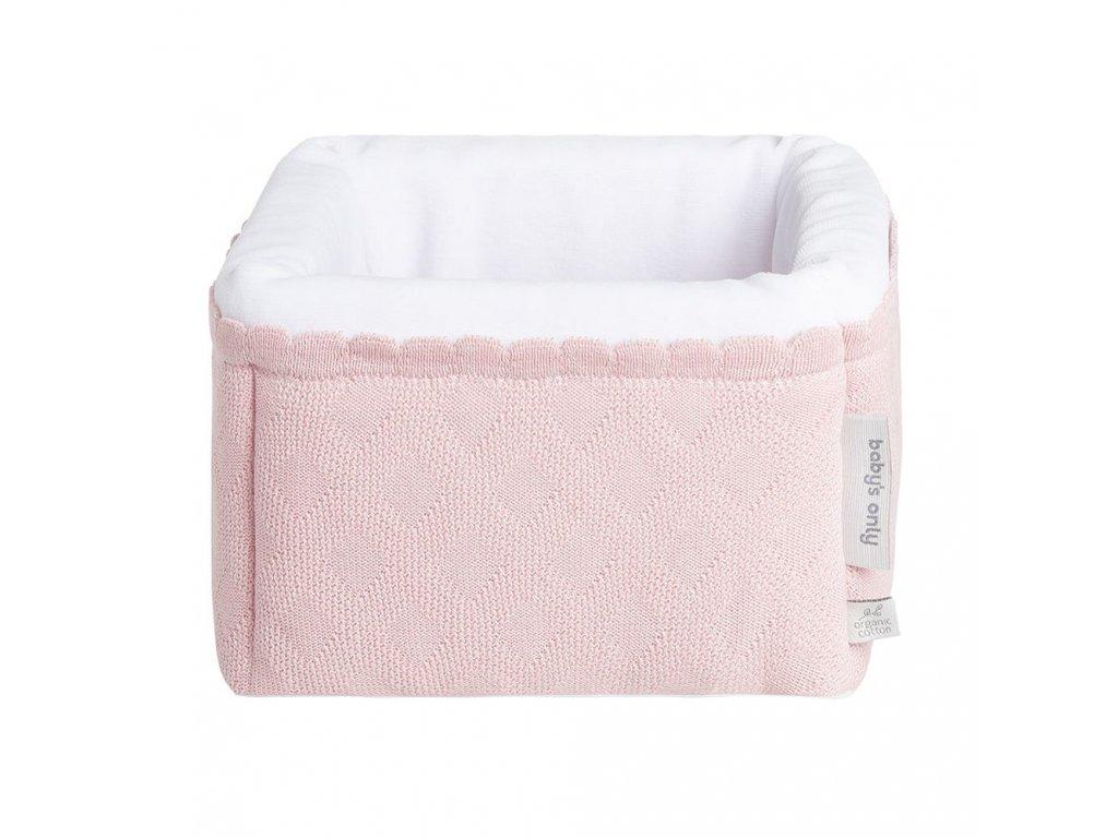 Baby's only bavlnený odkladací košík Reef ružový