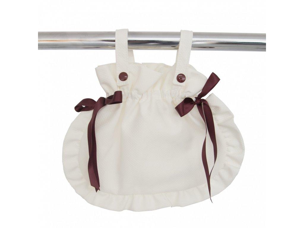 19883 bebelux taska so maslickami beige bordeaux