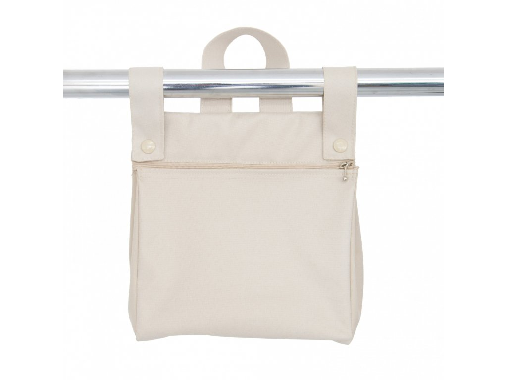 19862 bebelux taska so zipsom beige