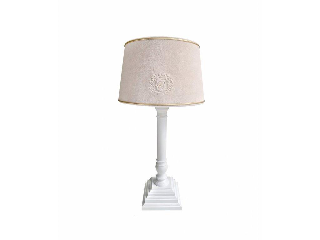 24443 caramella golden sand stolna lampa bezova