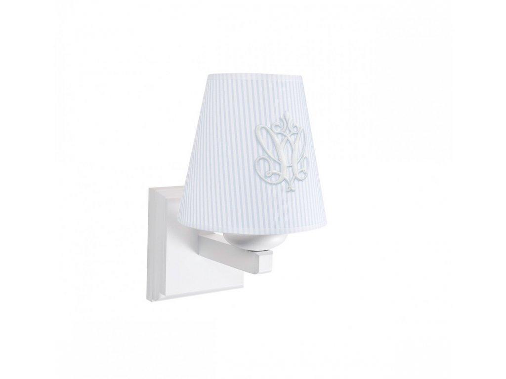 Caramella Azure nástenná lampa so znakom modrá