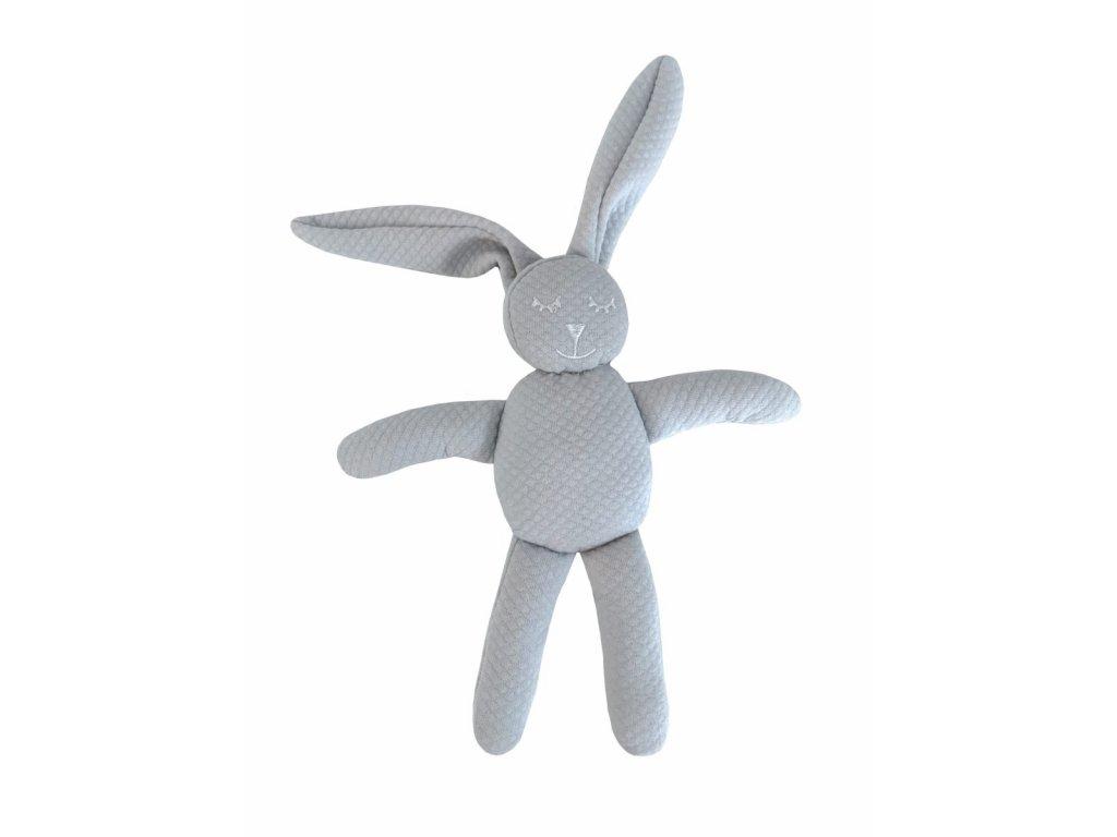 23243 caramella plysova hracka zajacik 30cm sedy