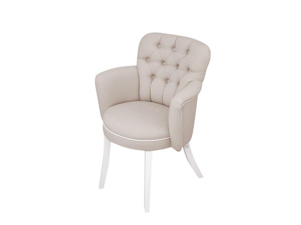 Caramella prešívaná detská stolička béžová