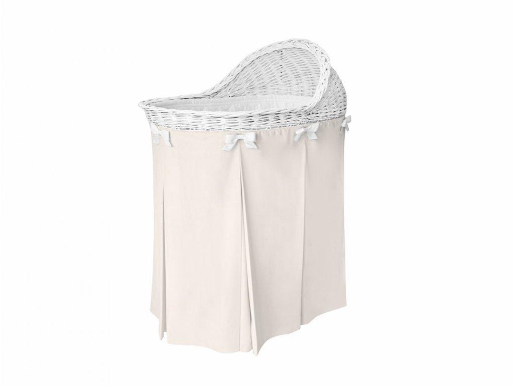 Caramella prútený košík na spanie smotanový