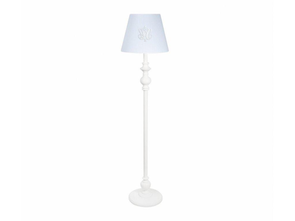 21221 caramella stojaca lampa so znakom a ozdobnou nohou modra