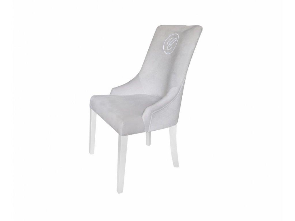 Caramella čalúnená stolička Hampton so znakom šedá
