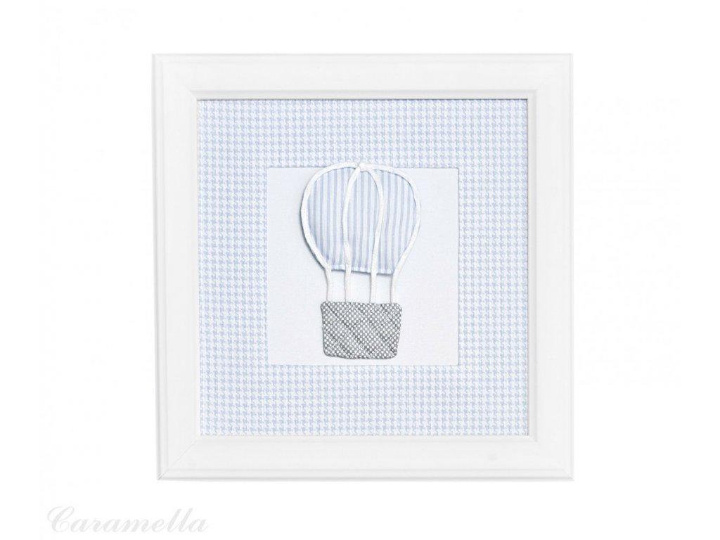 20417 caramella textilny detsky obraz azure balon 30x30cm modry