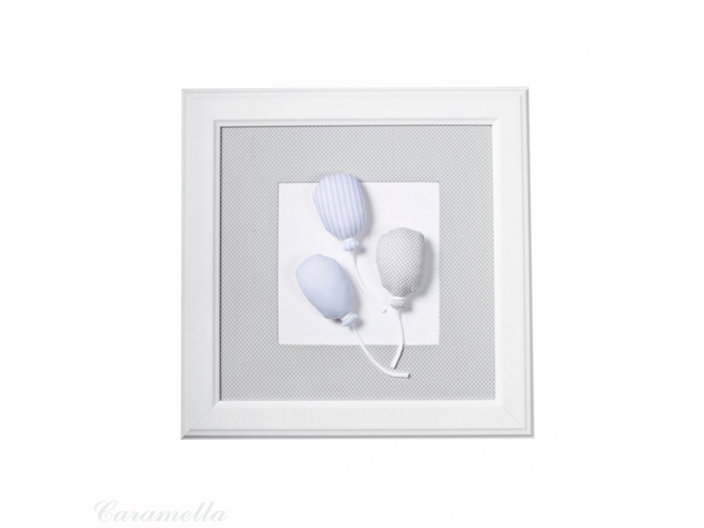 20408 caramella textilny detsky obraz baloniky 30x30cm modre